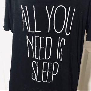 "torrid Tops - TORRID ""ALL YOU NEED IS SLEEP"" SHORT SLEEVE TEE 2"